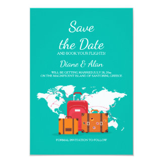 Zeit, Save the Date zu reisen Mitteilung Karte
