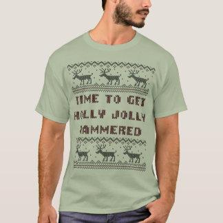 Zeit, Stechpalmen-ziemlich gehämmerte hässliche T-Shirt