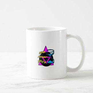 Zeit stoppt nie kaffeetasse
