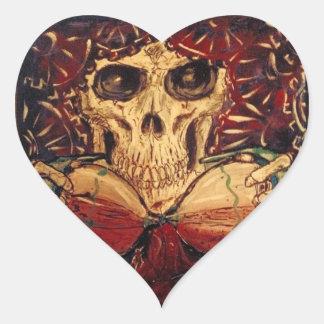 Zeit und Tod Herz-Aufkleber