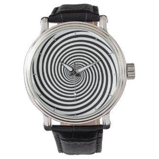 Zeit-verbiegende Hypnose-Spirale Armbanduhr