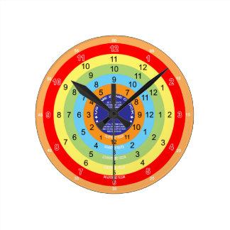 Zeit-Zonen-Uhr Runde Wanduhr