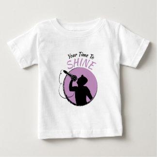 Zeit zu glänzen baby t-shirt