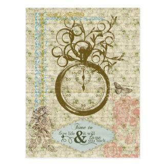 Zeit zum Liebe-Leben Postkarte