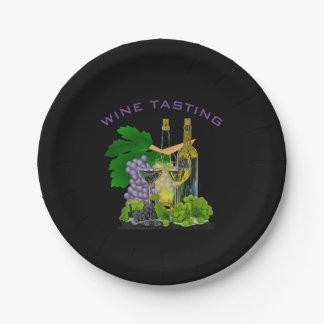 Zeit zum Party - Wein-Probieren-Papierplatte Pappteller