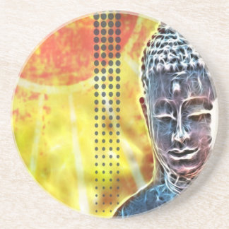 Zeitalter-Yoga-Meditations-geistiger Zen Buddha Getränkeuntersetzer