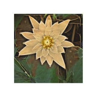 Zeitalter-Zen-Buddhismus-Yoga Namaste weißes Lotus Holzwanddeko