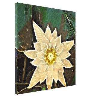 Zeitalter-Zen-Buddhismus-Yoga Namaste weißes Lotus Leinwanddruck