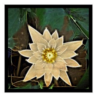 Zeitalter-Zen-Buddhismus-Yoga Namaste weißes Lotus Poster