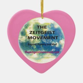 Zeitgeist-Bewegung Keramik Ornament