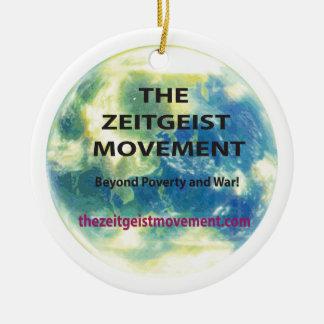 Zeitgeist-Bewegung Rundes Keramik Ornament