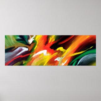 Zeitgenössische abstrakte Geschwindigkeits-Malerei Poster