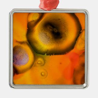 Zeitgenössische Bio Malerei der abstrakten Zellen Silbernes Ornament