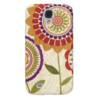 Zeitgenössische Fall-Blumen Galaxy S4 Hülle