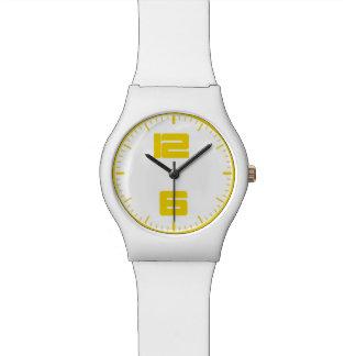 zeitgenössische gelbe Uhr des Weiß may28th