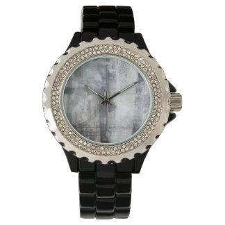 Zeitgenössische graue Malerei Armbanduhr