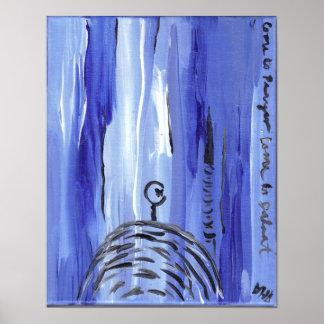 Zeitgenössische islamische Kunst-Malerei Posterdruck