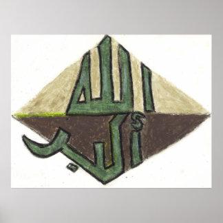 Zeitgenössische islamische plakat