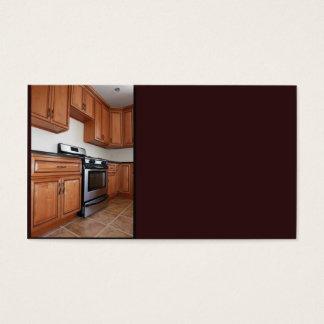 zeitgenössische Küche im Neubau Visitenkarte