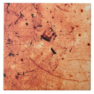 Zeitgenössische Kunst des orange abstrakten Grunge Fliese