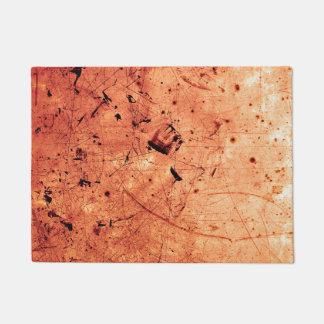 Zeitgenössische Kunst des orange abstrakten Grunge Türmatte