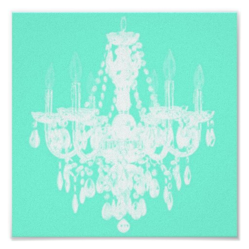 Zeitgenössische Leuchter-Silhouette-Kunst - Druck  Plakat