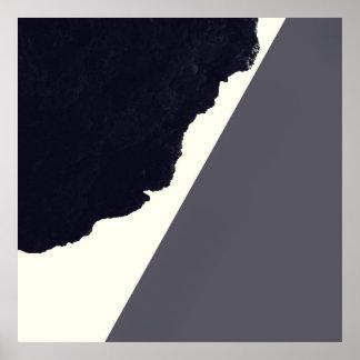 Zeitgenössische Minimalistic Schwarzweiss-Kunst Poster