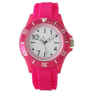 zeitgenössische rosa Sportuhr Uhr