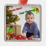 Zeitgenössische Stechpalmen-WeihnachtsFoto-Verzier Weihnachtsbaum Ornament