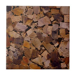 Zeitgenössischer Holzspanchip-entwurf Keramikfliese