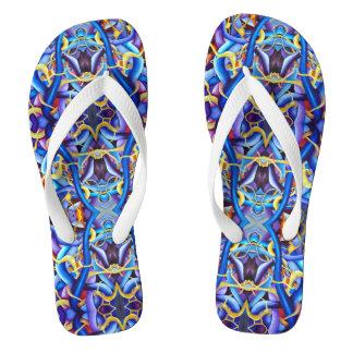 Zeitgenössisches blaues abstraktes - flip flops