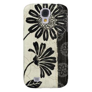 Zeitgenössisches Blumen in Schwarzweiss Galaxy S4 Hülle