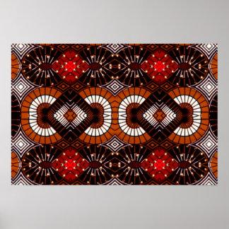 Zeitgenössisches geometrisches Stammes- abstraktes Poster
