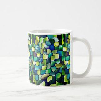 Zeitgenössisches grünes Muster Kaffeetasse