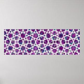 Zeitgenössisches islamisches Muster Plakatdruck
