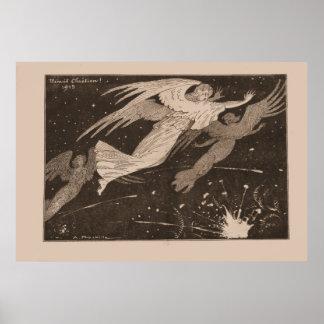 """Zeitgenössisches """"Menuett Chistian"""" 1915 - WW1 Plakatdrucke"""