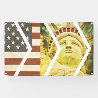 Zeitgenössisches USA-Flaggen-Freiheitsstatue Banner