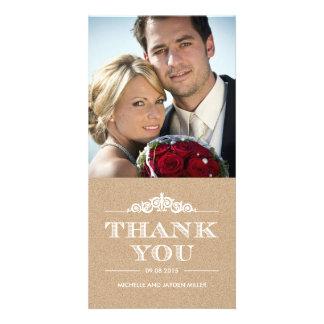 Zeitloses Gefühl danken Ihnen Karten - Handwerk Photokartenvorlage