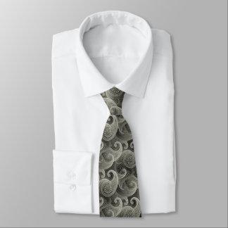 Zeitloses Muster Platin-Paisleys Krawatte