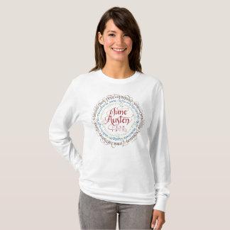 Zeitraum-Drama-langes Hülsen-T - Shirt-Weiß Janes T-Shirt
