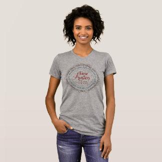 Zeitraum-Drama-T - Shirt-Crew-Hals Janes Austen