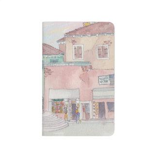 ZEITSCHRIFT Italien/Geschäfts-Skizze-Aquarell Taschennotizbuch