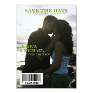 Zeitschrift Save the Date 12,7 X 17,8 Cm Einladungskarte