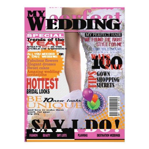 Zeitschriften-Deckblatt-Brautparty der Ankündigungen