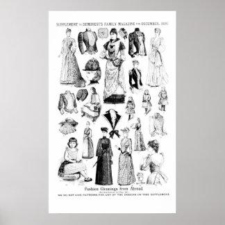 Zeitschriften-Mode-Ergänzung 1889 Posterdruck