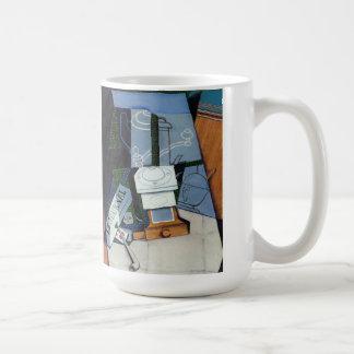 Zeitung mit Kaffeemühle durch Juan Gris Kaffeetasse