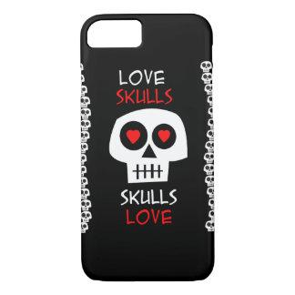 Zell Hülle iPhone 7 Skulls Love