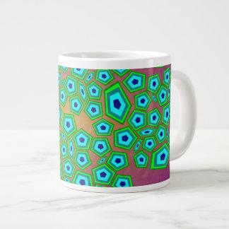 Zelluläre natürliche Muster-Kunst Extragroße Tassen
