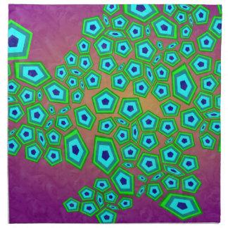 Zelluläre natürliche Muster-Kunst Stoff Serviette