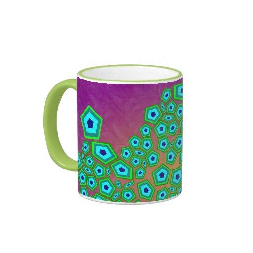Zelluläres Kunst-Muster Kaffee Haferl